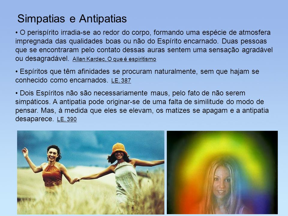 Simpatias e Antipatias