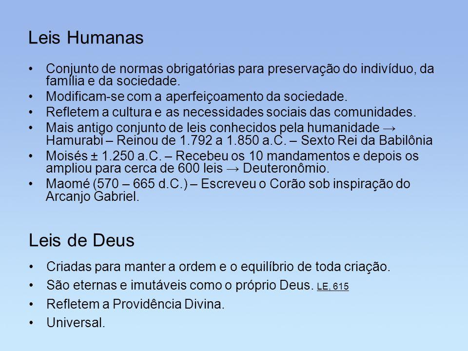 Leis Humanas Leis de Deus