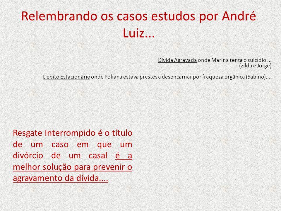 Relembrando os casos estudos por André Luiz...