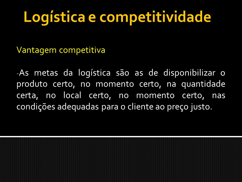 Logística e competitividade