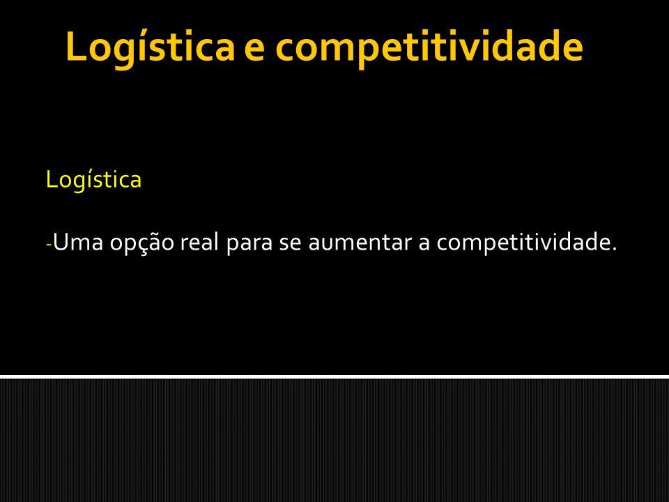 Logística Uma opção real para se aumentar a competitividade.