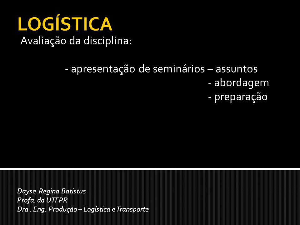 LOGÍSTICA Avaliação da disciplina:
