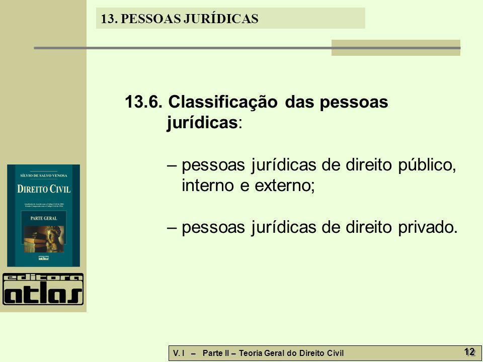 13.6. Classificação das pessoas jurídicas:
