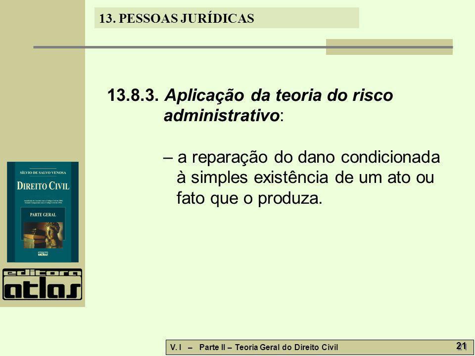 13.8.3. Aplicação da teoria do risco administrativo: