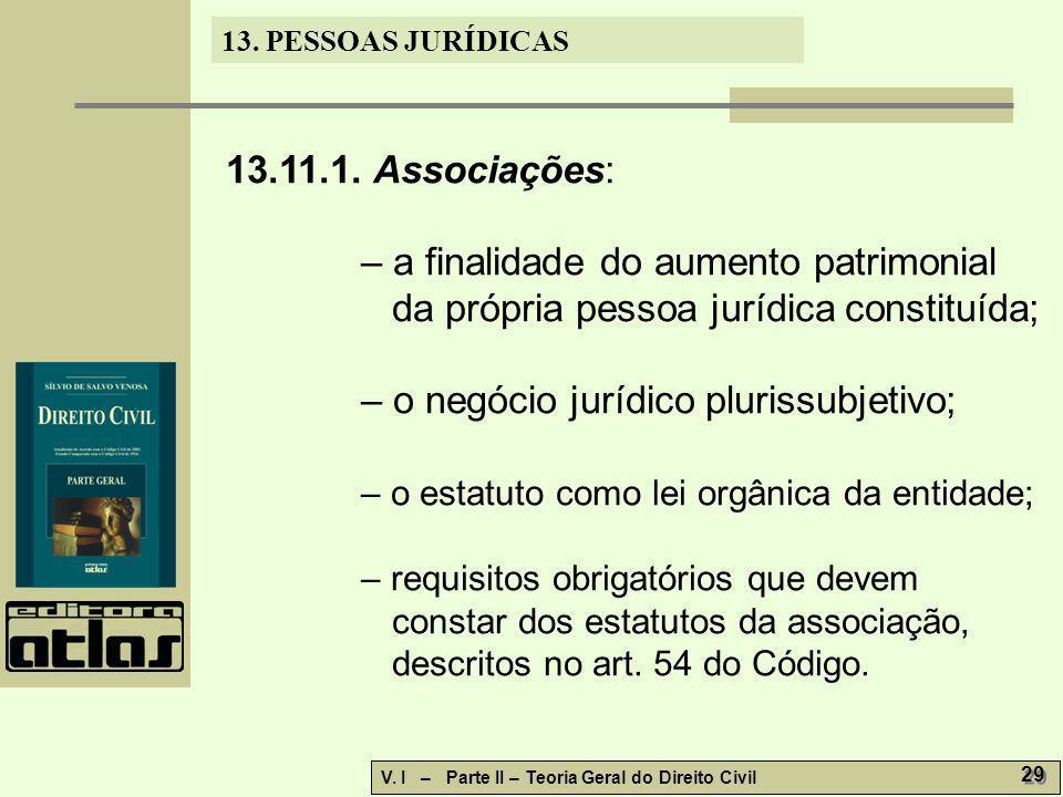– o negócio jurídico plurissubjetivo;