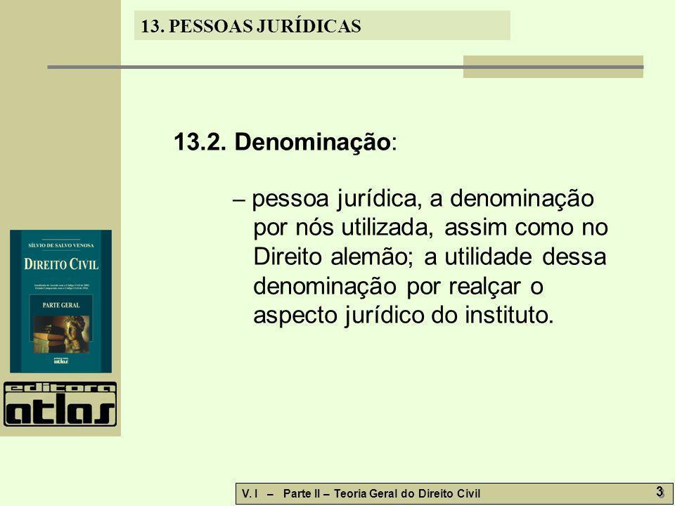 13.2. Denominação: