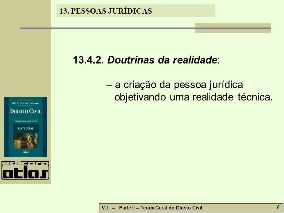13.4.2. Doutrinas da realidade: