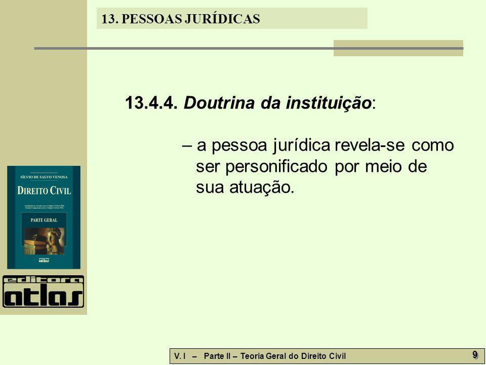 13.4.4. Doutrina da instituição: