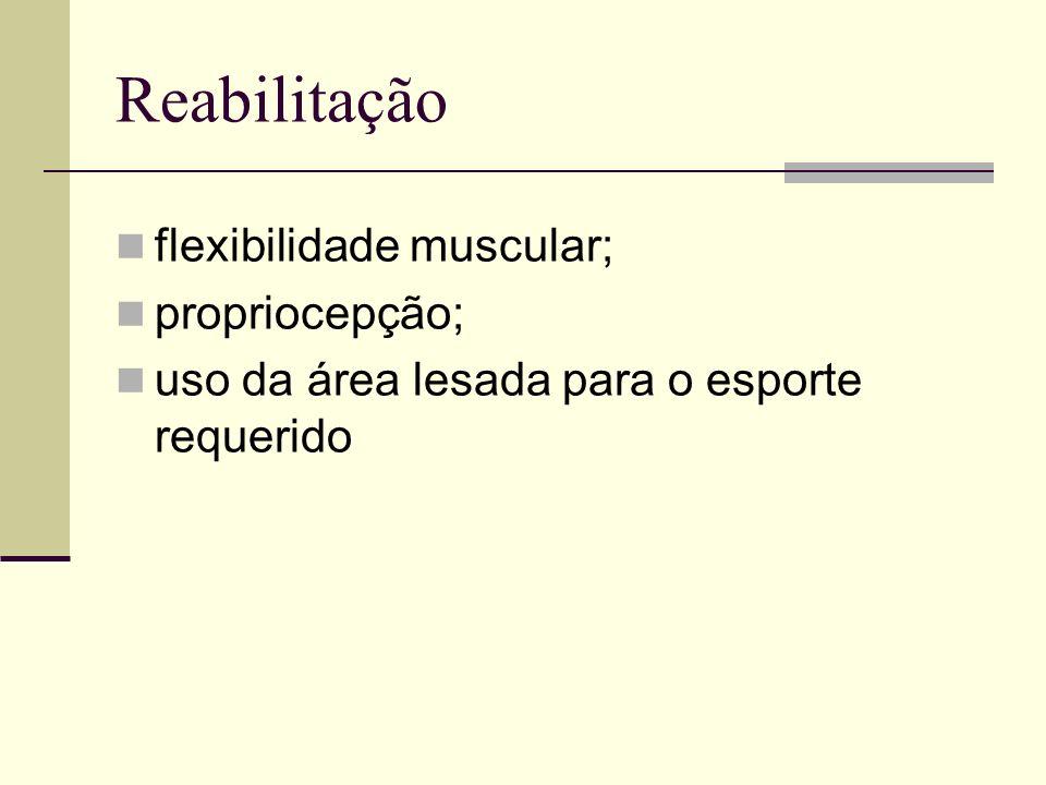 Reabilitação flexibilidade muscular; propriocepção;