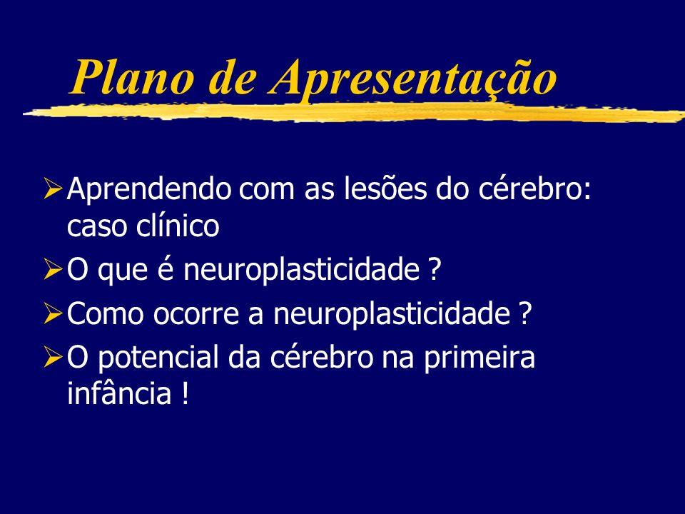 Plano de Apresentação Aprendendo com as lesões do cérebro: caso clínico. O que é neuroplasticidade