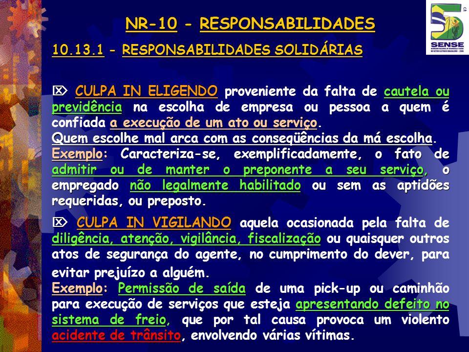 NR-10 - RESPONSABILIDADES
