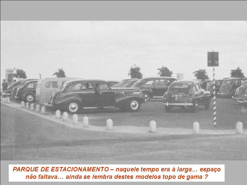 PARQUE DE ESTACIONAMENTO – naquele tempo era à larga… espaço não faltava… ainda se lembra destes modelos topo de gama