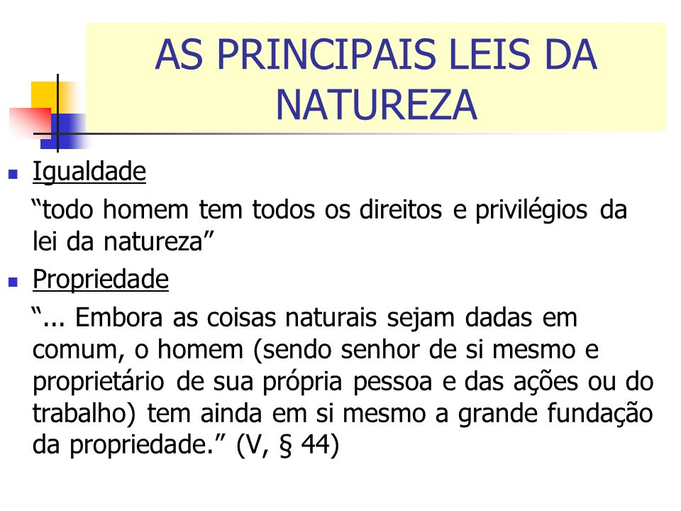 AS PRINCIPAIS LEIS DA NATUREZA