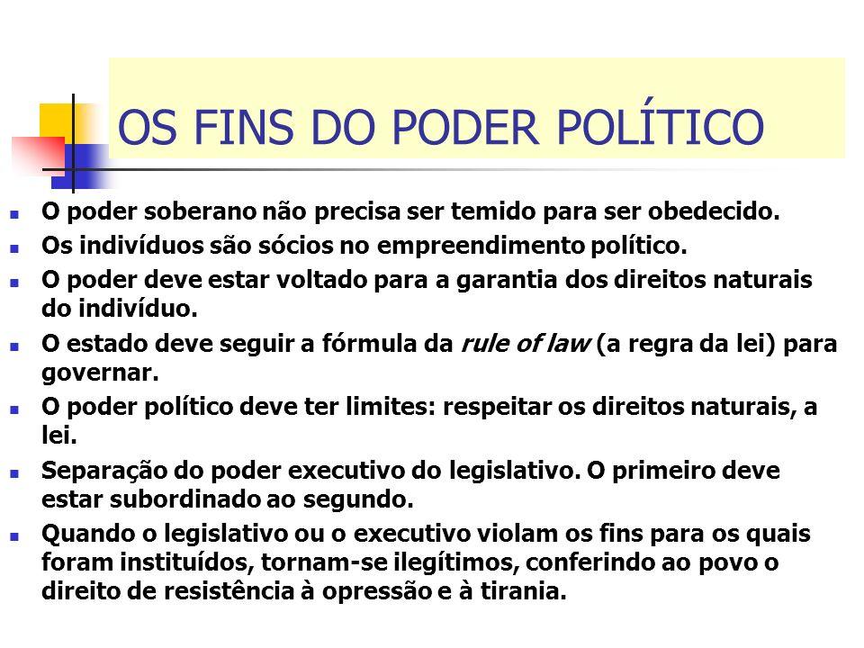 OS FINS DO PODER POLÍTICO