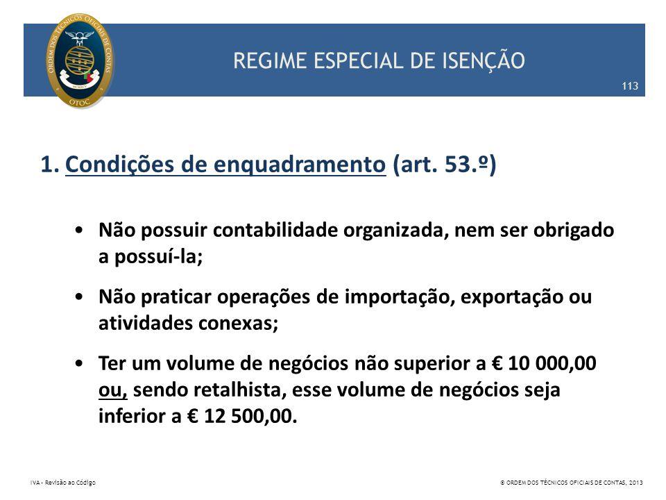 REGIME ESPECIAL DE ISENÇÃO
