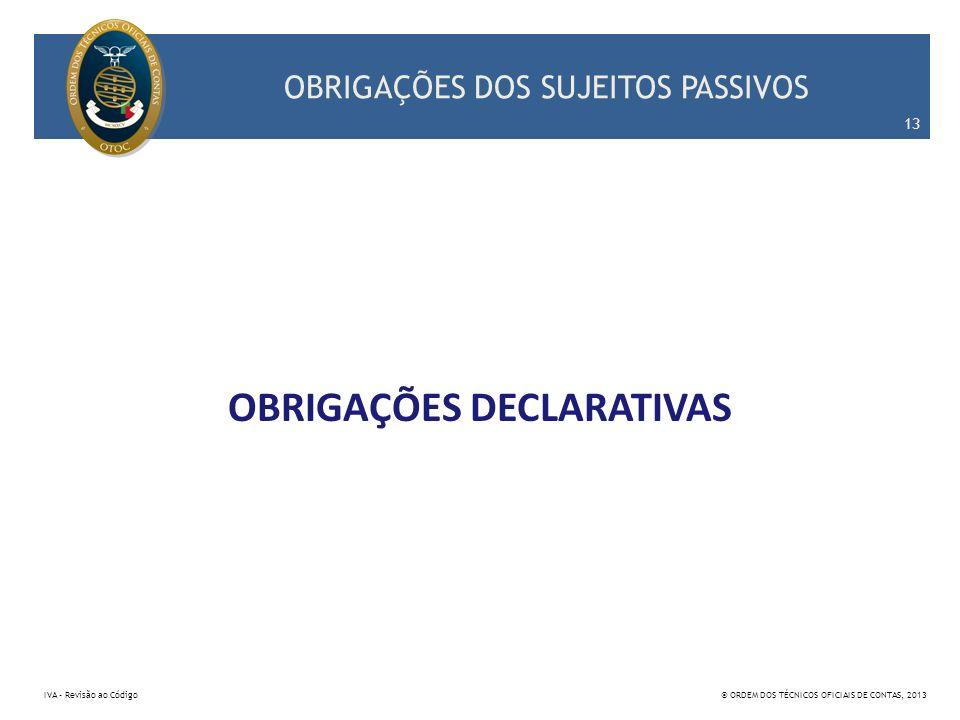 OBRIGAÇÕES DOS SUJEITOS PASSIVOS