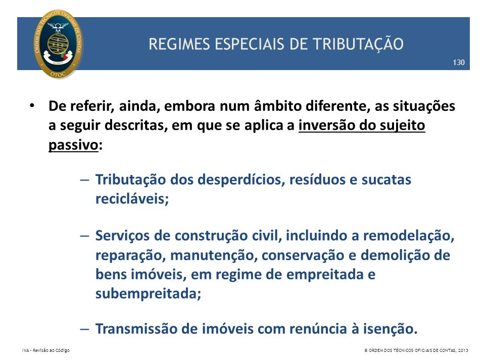 REGIMES ESPECIAIS DE TRIBUTAÇÃO