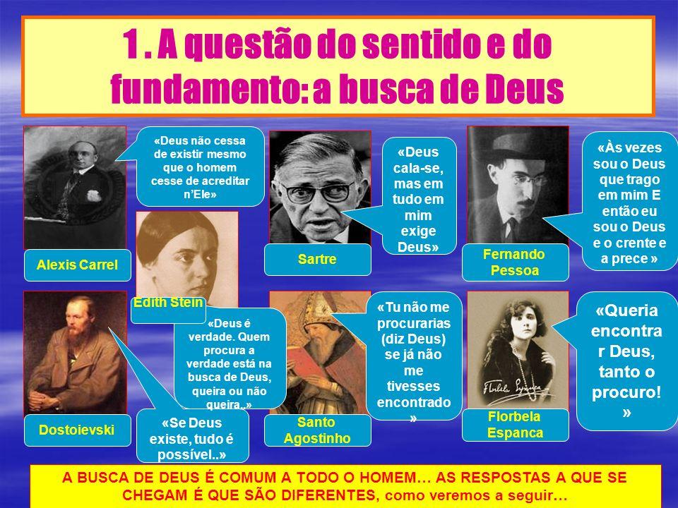 1 . A questão do sentido e do fundamento: a busca de Deus