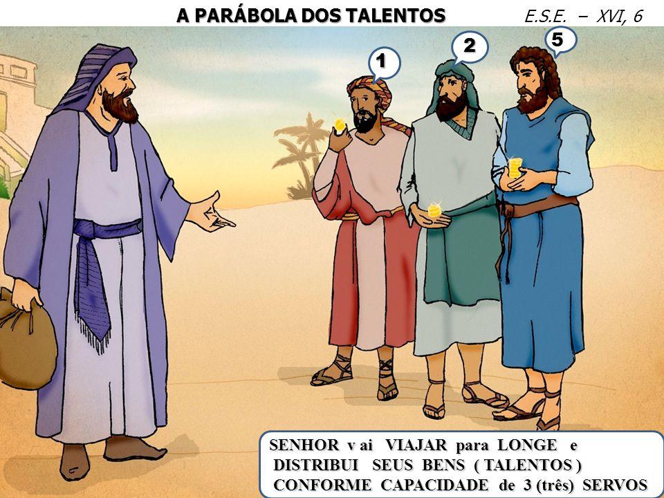 5 2 1 A PARÁBOLA DOS TALENTOS E.S.E. – XVI, 6