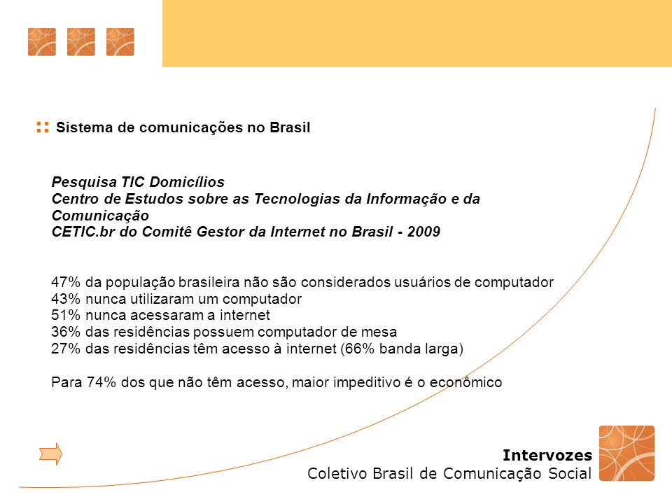 :: Sistema de comunicações no Brasil