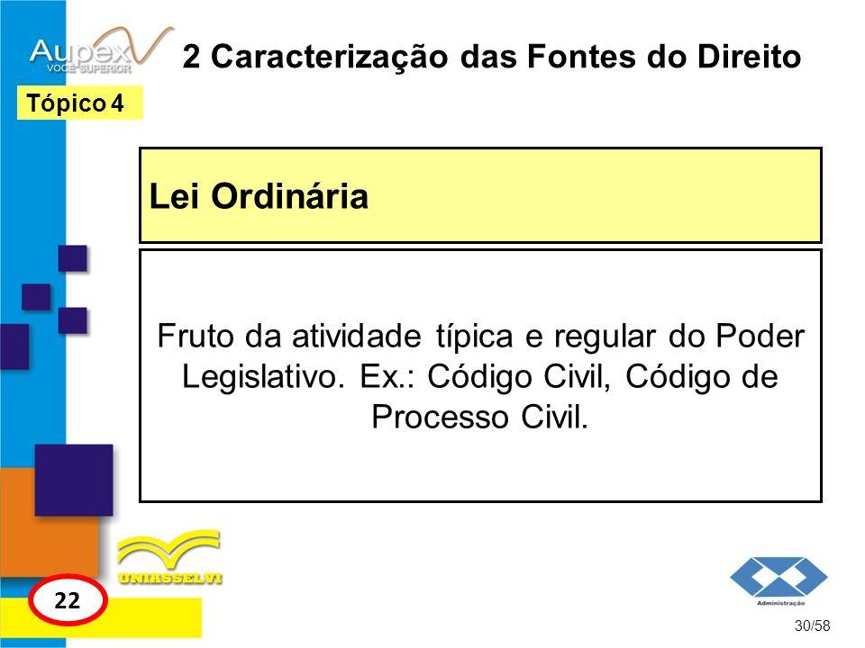 2 Caracterização das Fontes do Direito