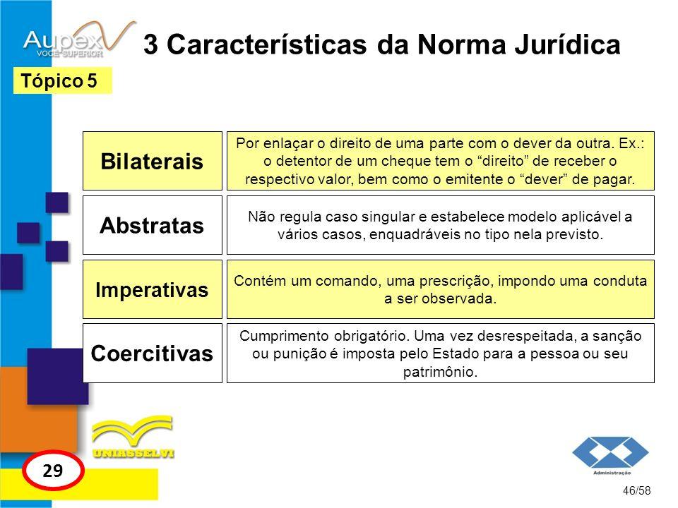 3 Características da Norma Jurídica