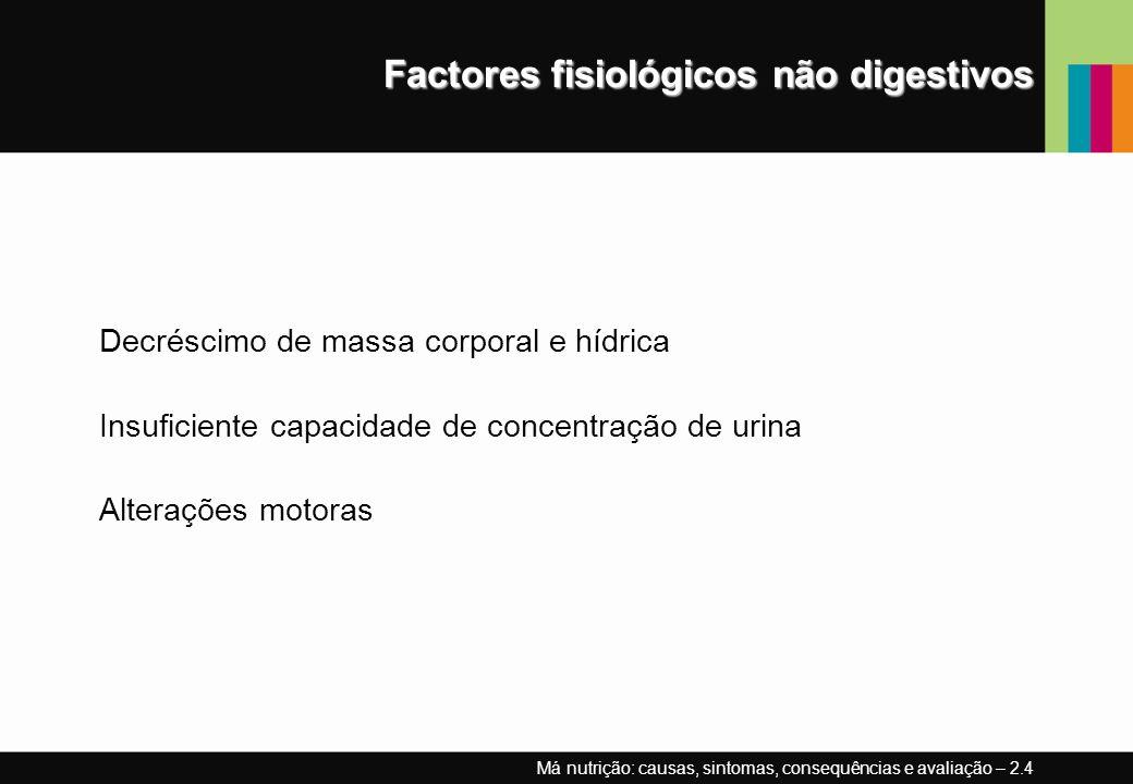 Factores fisiológicos não digestivos