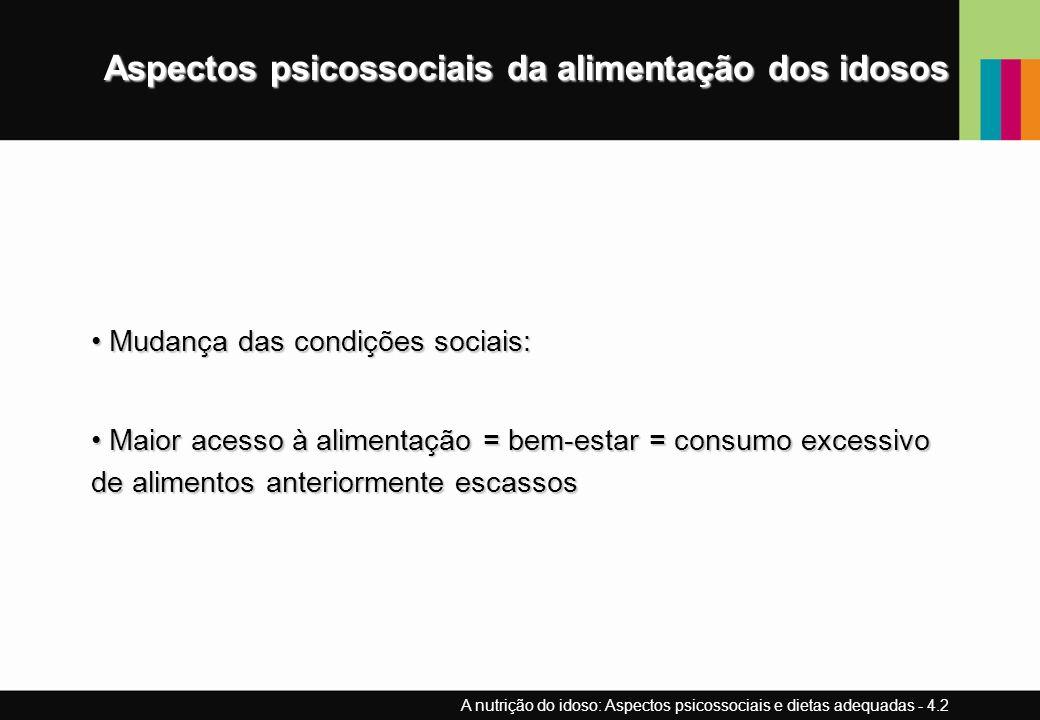 Aspectos psicossociais da alimentação dos idosos