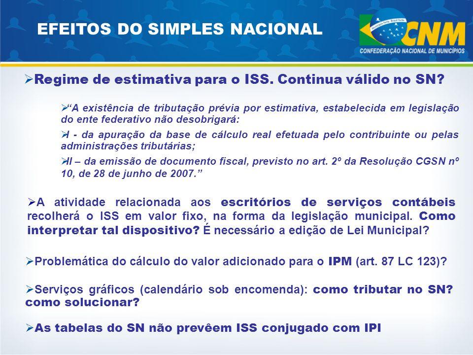 EFEITOS DO SIMPLES NACIONAL