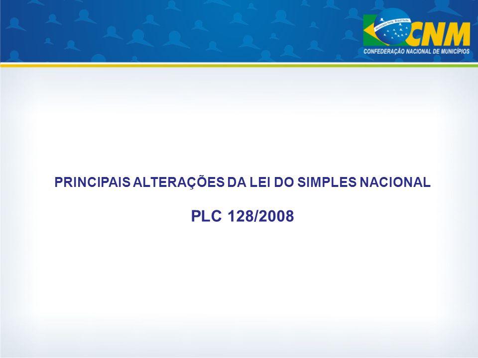 PRINCIPAIS ALTERAÇÕES DA LEI DO SIMPLES NACIONAL