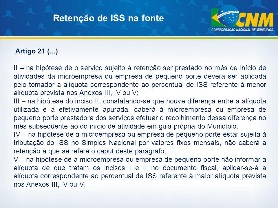 Retenção de ISS na fonte