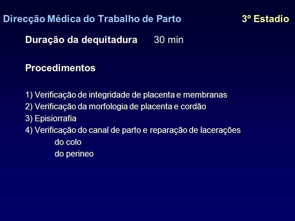 Direcção Médica do Trabalho de Parto 3º Estadio
