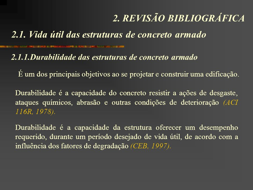 2.1. Vida útil das estruturas de concreto armado