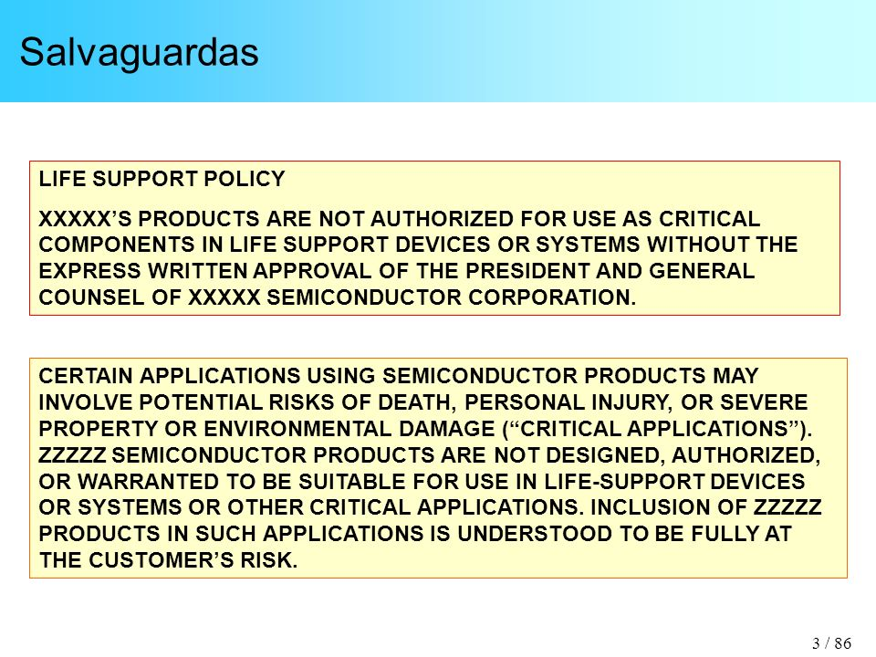 Salvaguardas LIFE SUPPORT POLICY