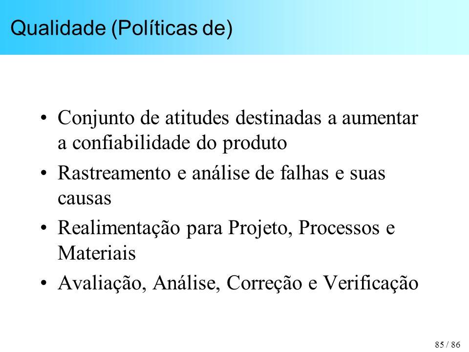 Qualidade (Políticas de)