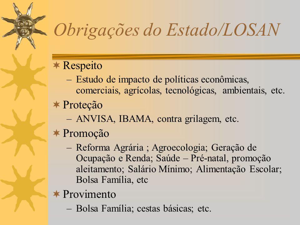 Obrigações do Estado/LOSAN