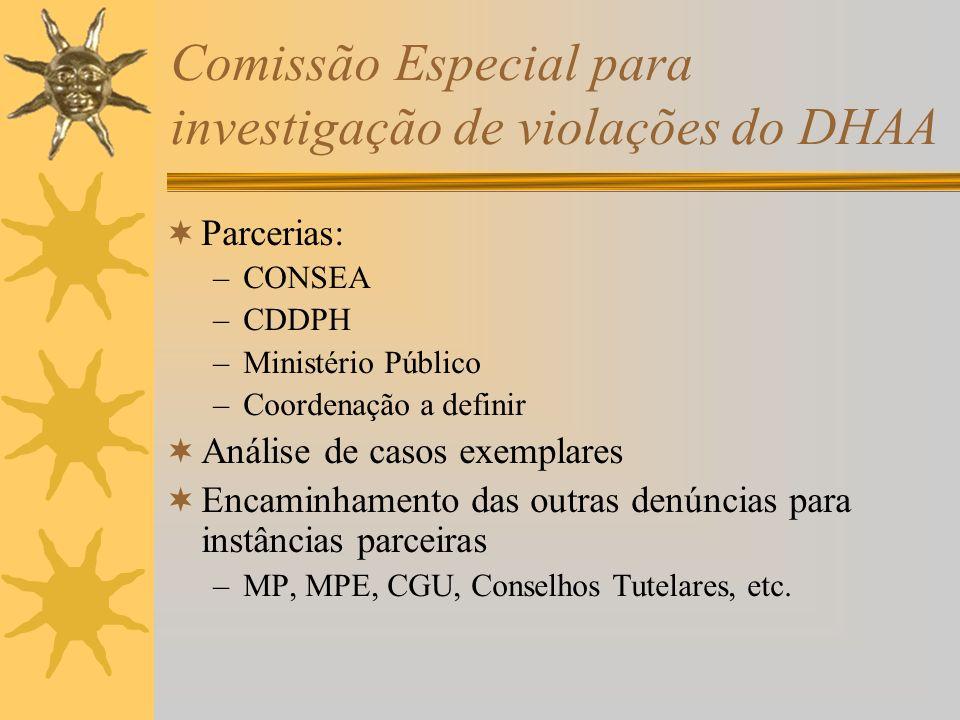 Comissão Especial para investigação de violações do DHAA