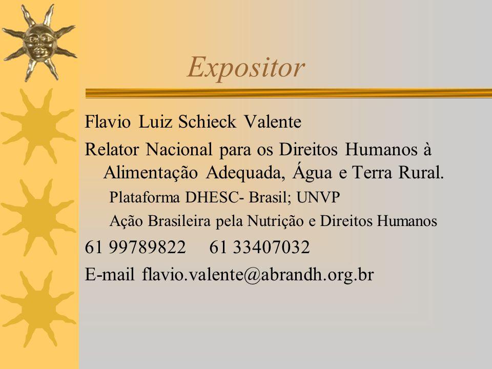 Expositor Flavio Luiz Schieck Valente