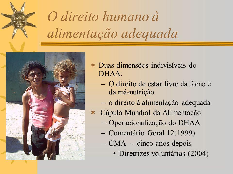 O direito humano à alimentação adequada