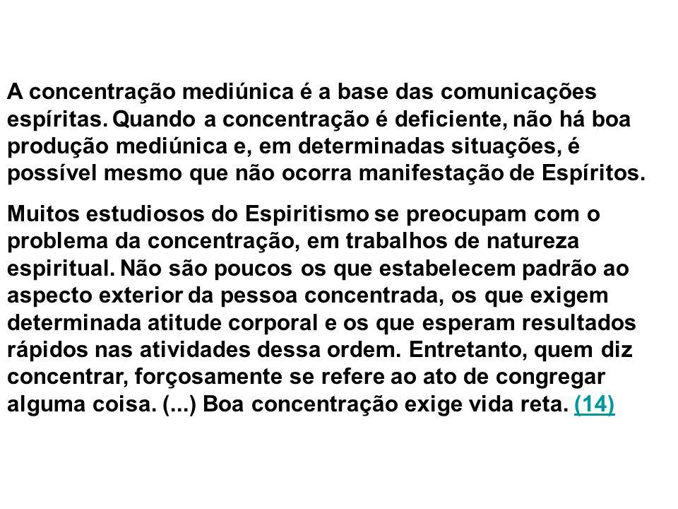 A concentração mediúnica é a base das comunicações espíritas