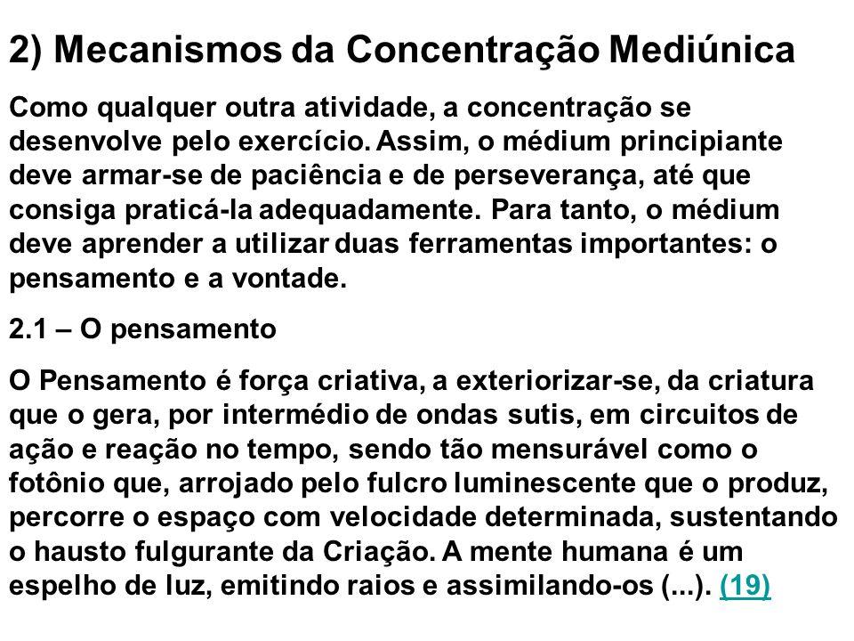 2) Mecanismos da Concentração Mediúnica