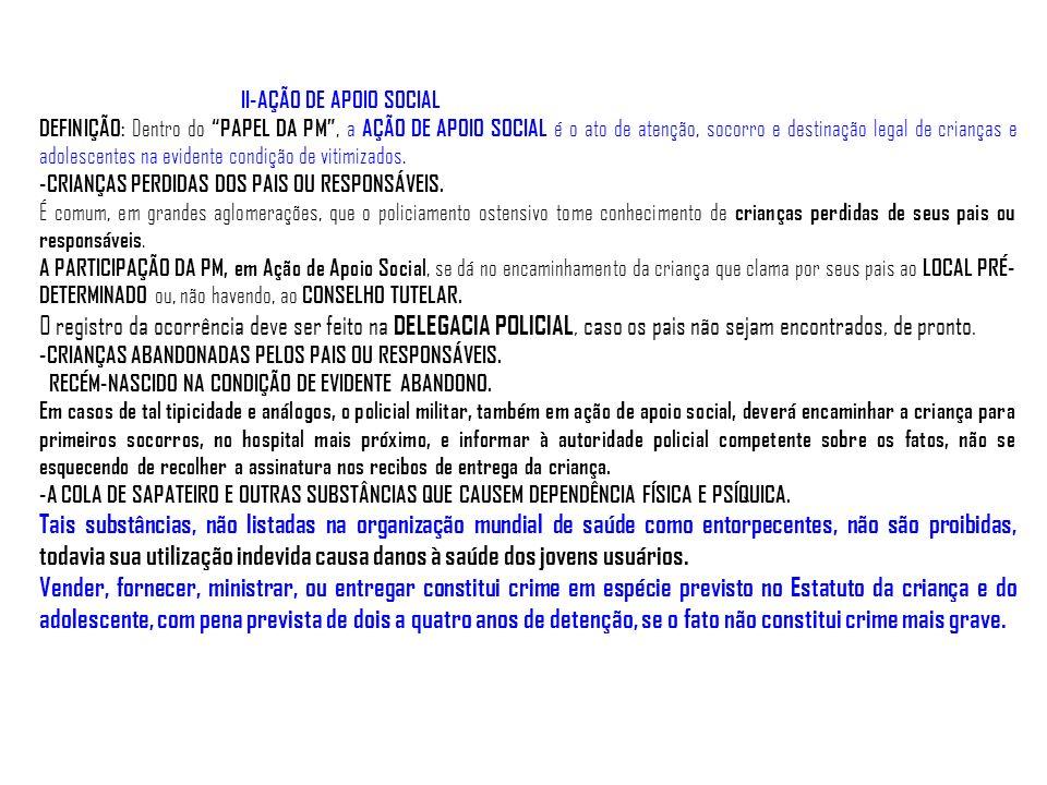II-AÇÃO DE APOIO SOCIAL