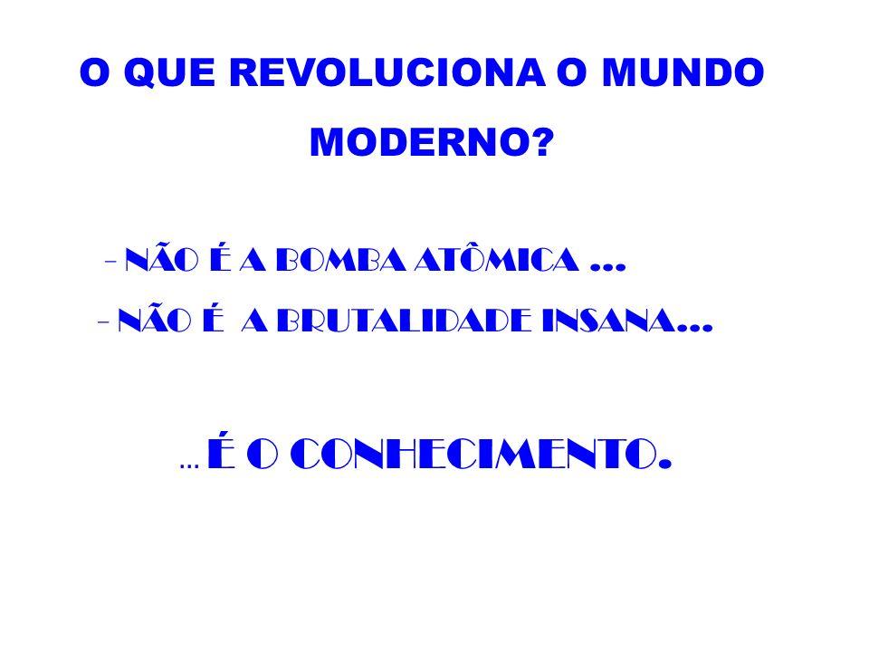 O QUE REVOLUCIONA O MUNDO MODERNO