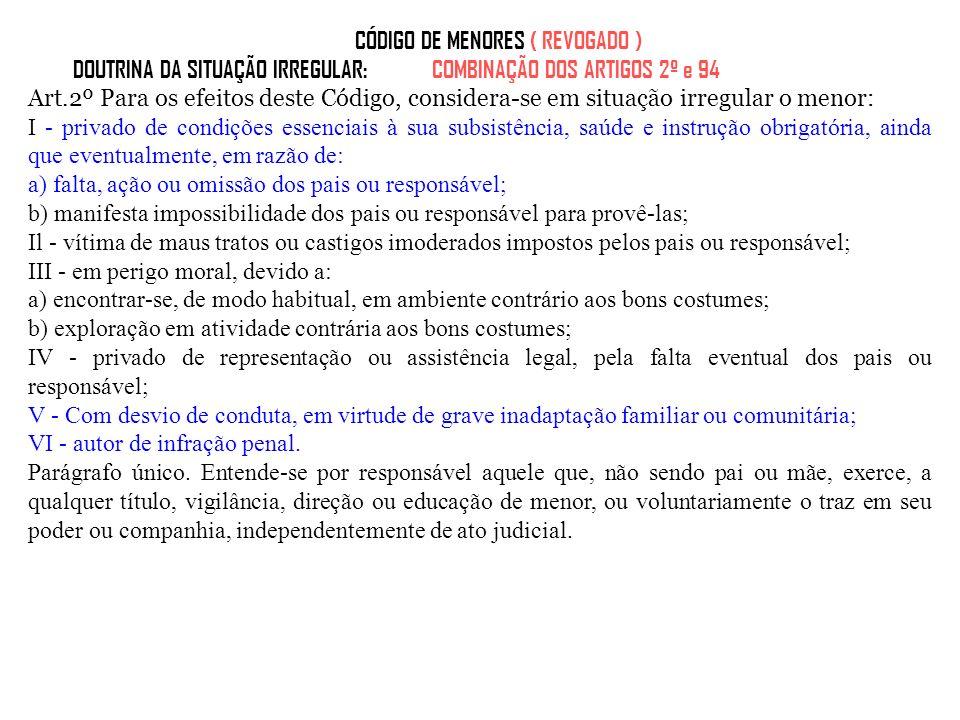 CÓDIGO DE MENORES ( REVOGADO )