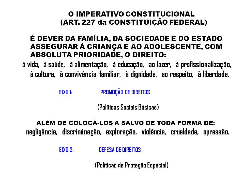 O IMPERATIVO CONSTITUCIONAL (ART. 227 da CONSTITUIÇÃO FEDERAL)