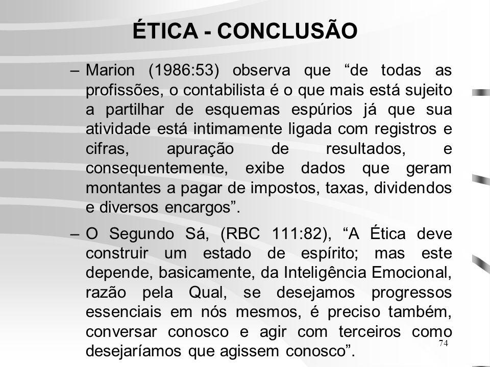 ÉTICA - CONCLUSÃO
