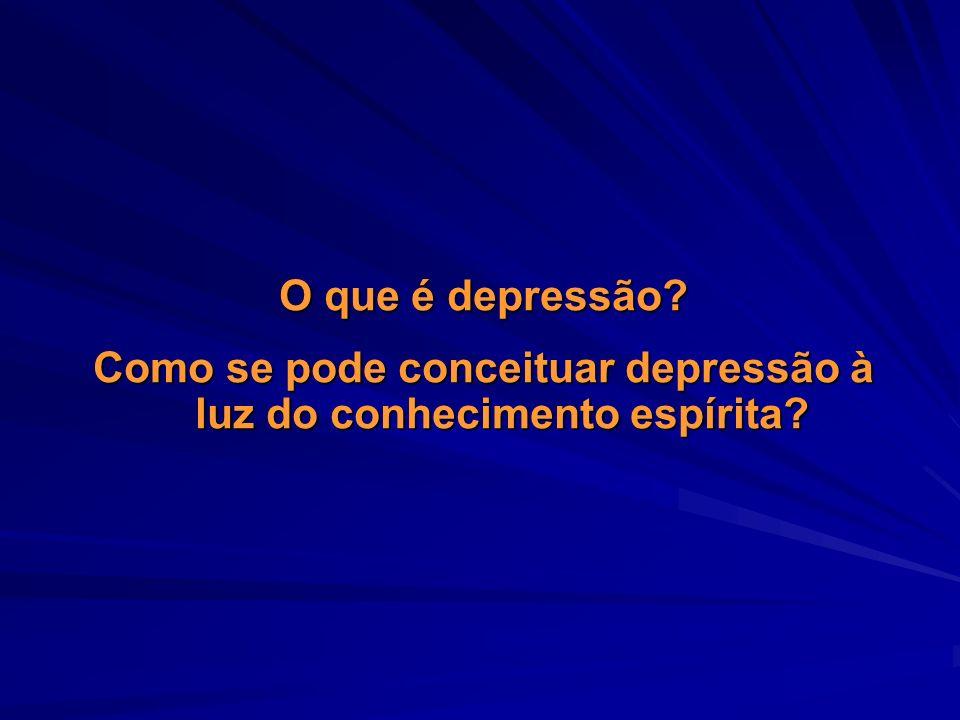 Como se pode conceituar depressão à luz do conhecimento espírita