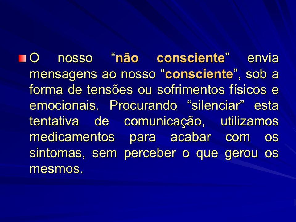 O nosso não consciente envia mensagens ao nosso consciente , sob a forma de tensões ou sofrimentos físicos e emocionais.