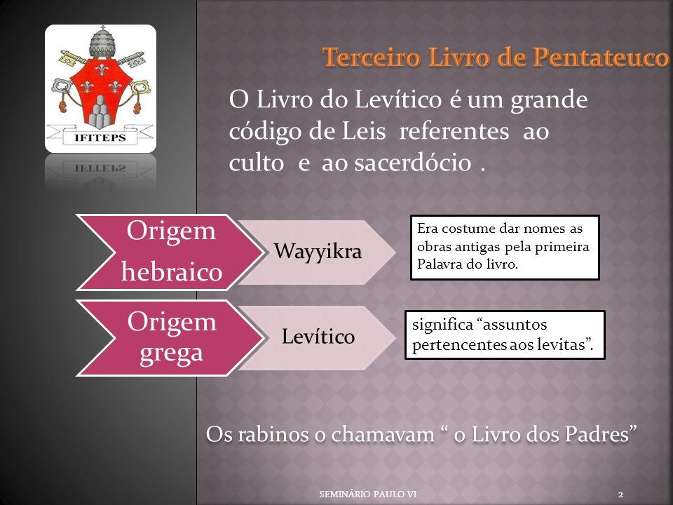 Terceiro Livro de Pentateuco