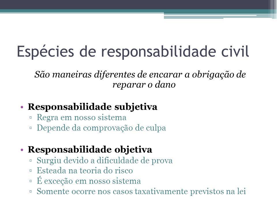 Espécies de responsabilidade civil